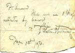 John G. Gardner to Mrs. Aldrich, 2 December 1872 by John G. Gardner