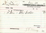 Receipt, 28 December 1871