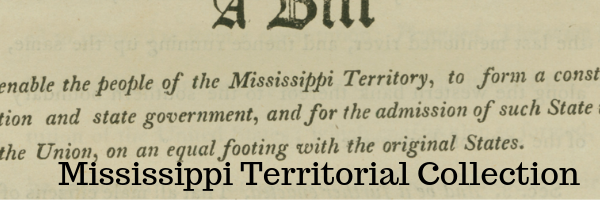 Mississippi Territorial Documents