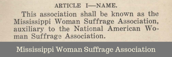 Mississippi Woman Suffrage Association