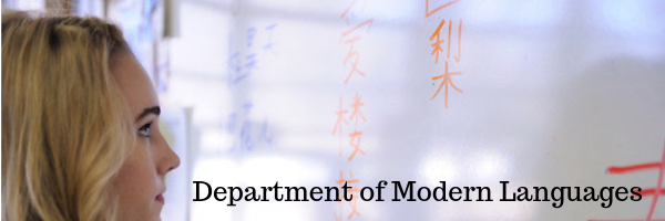 Modern Languages, Department of