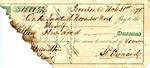 Receipt, 31 March 1875 by Samuel Pennock Bernard