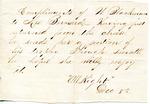 Compliments of W. Blackman to Mrs. Bernard by Sarah G. Bernard