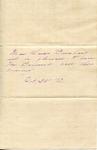 Note accepting visit from Frederick Bernard by Frederick Robert Bernard (1850-1922)