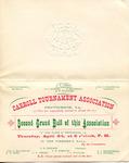 Invitation to Carroll Tournament Association Grand Ball by Carroll Tournament Association