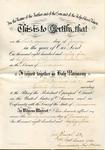 Marriage certificate, Frederick Bernard and Estelle Turner by Frederick Robert Bernard (1850-1922)