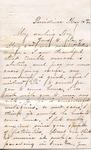 """Sarah G. Bernard to """"My darling boy,"""" 10 May 1872 by Sarah G. Bernard"""