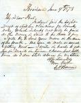"""Samuel Pennock Bernard to """"My Dear Fred,"""" 9 June 1873 by Samuel Pennock Bernard"""