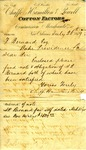 Receipt for payment by Samuel Pennock Bernard, 26 July 1879 by Hamilton Chafee and Powell Chafee
