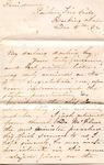 """Sarah G. Bernard to """"My darling darling boy,"""" 8 December 1872 by Sarah G. Bernard"""