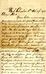 """Reuben Bernard to """"Dear Fred,"""" 29 October 1876 by Reuben Bernard"""