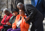 Linnie Willis, Marjorie Crawford, Henrieese Roberts, Don Cole at Commemorative Ceremony, February 24, 2020 by Linnie Liggins Willis, Marjorie Crawford, Henrieese Roberts, and Donald Cole