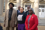 Kenneth Mayfield, Henrieese Roberts, Linnie Willis, Theron Evans, Jr. and Donald Cole in front of Fulton Chapel, February 24, 2020 by Kenneth Mayfield, Henrieese Roberts, Linnie Liggins Willis, Theron Evans Jr., and Donald Cole