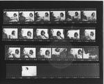 Photo contact sheet: Sheila Jordan with Sheldon Harris (1972) by Leonard Silverman, Sheila Jordan, and Sheldon Harris