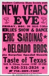 New Year's Eve presented by Southern California Blues Society, featuring Eric Sardinas and Delgado Bros, pink version