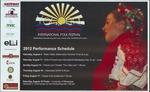 Yocona International Folk Festival, performance schedule, 2012