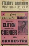 Clifton 'Louisiana Blues' Chenier and orchestra