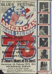 American blues legends 1973 blues festival, featuring Lightnin' Slim and others, Volkshaus, Zurich