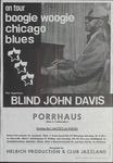 Blind John Davis on tour boogie woogie Chicago blues