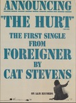 Announcing 'The hurt' the first single from Foreigner by Cat Stevens by A&M Records (Firm)