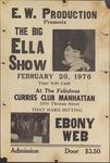 Big Ella Show and Ebony Web concert at Curries Club Manhattan by E.W. Production