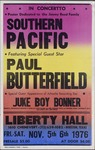 Southern Pacific with Paul Butterfield, and Juke Boy Bonner concert at Liberty Hall