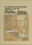 Charley Patton Conference at University of Liege (Belgium)