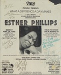 What a diff'rence a day makes: a gala benefit to help us buy a headstone memorializing Esther Phillips