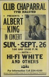Albert King concert at Club Chaparral