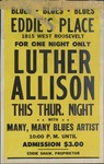 For one night only: Luther Allison concert at Eddie's Place