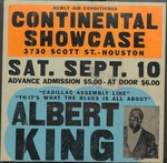 Albert King, club ad for Continental Showcase