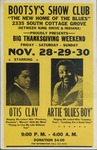 Bootsy's Show Club, Chicago, 'Big Thanksgiving weekend' with Artie 'Blues Boy' and Otis Clay