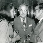Burson with Barbara Walters and Carl Levin, D. C. General Manager, 1973 by Harold Burson