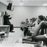 Burson with Ole Miss Journalism students, 1975 by Harold Burson