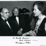 Kennedy Center Terrace Theater with First Lady Rosalynn Carter and Supreme Court Justice Abe Fortas, 1979 by Harold Burson, Rosalynn Carter, and Abe Fortas