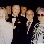 Harold and Bette Burson with Frank Sinatra, 1986 by Harold Burson, Bette Burson, and Frank Sinatra