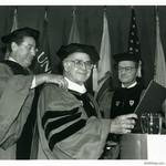 Presentation of Honorary Degree at Boston University, 1988 by Harold Burson