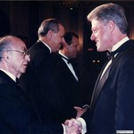 Burson with President Bill Clinton, 1993 by Harold Burson and Bill Clinton
