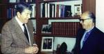 Burson with President Ronald Reagan (Date approximate) by Harold Burson and Ronald Reagan