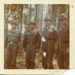 Clause F. Clayton with Turnage, General B.O. Smith, and Lt. Col. L.C. Ator. by Author Unknown