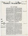 The Council Newsletter, Vol I, No. V