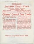 Citizens' Council Gets Credit
