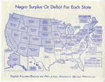 Negro Surplus or Deficit for Each State