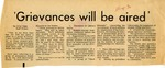 Grievances will be aired, 4 November 1970 by Otis Tims