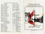 Galloway Memorial United Methodist Church, 7 November 1976 by Author Unknown