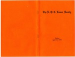 The L. Q. C. Lamar Society Bylaws, 17 April 1970 by Author Unknown