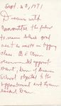 Discuss with committee 28 September 1971 by Author Unknown