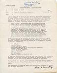 Interdepartmental Communication, 8 November 1968 by Porter L. Fortune