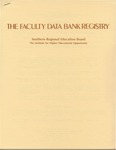 The Faculty Data Bank Registry by Southern Regional Education Board