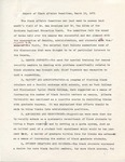 Report of Black Affairs Committee, 10 March 1971 by Author Unknown